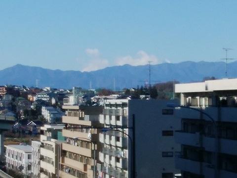 246号市ヶ尾歩道橋富士山