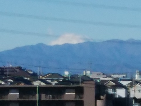 荏田町の高台富士山