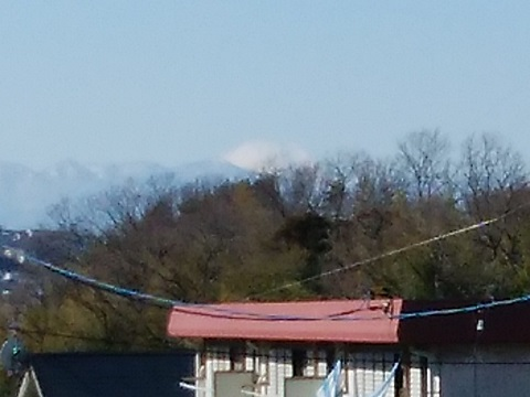 東生田8丁目の高台富士山