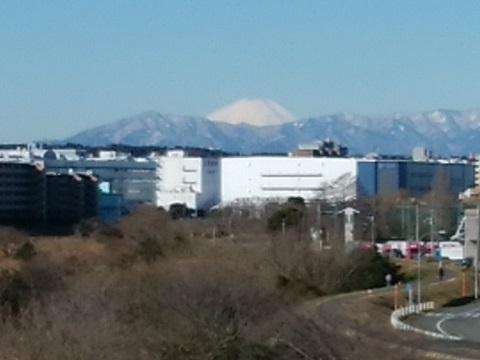 鴨池大橋富士山