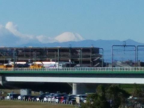 多摩川丸子橋富士山