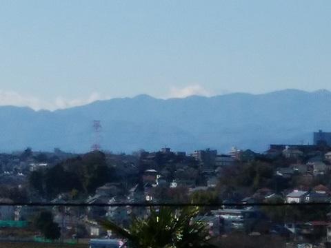 中恩田神明神社富士山