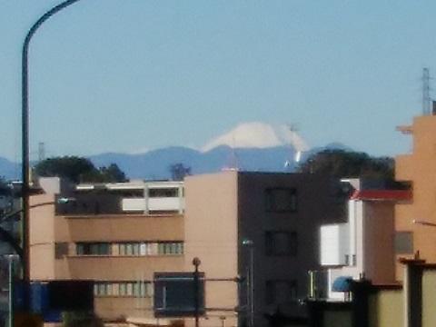 多摩川新二子橋富士山