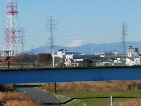 鷹野大橋富士山