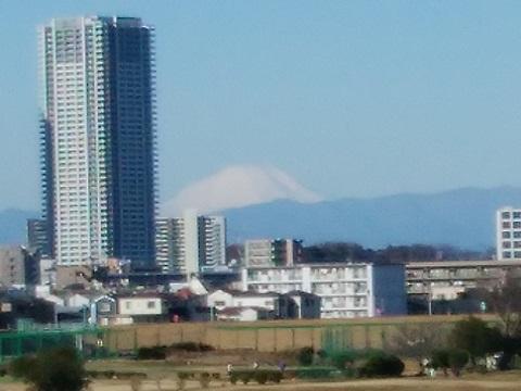 多摩川大橋富士山