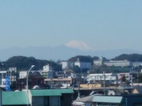 多摩川多摩水道橋富士山