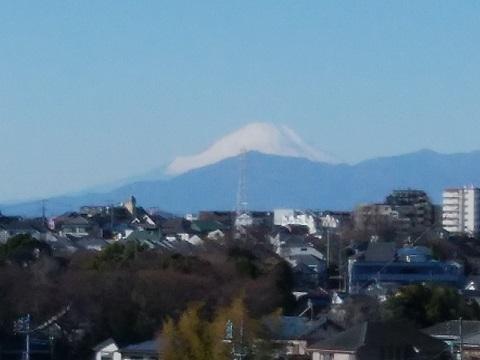 寺尾城址付近富士山