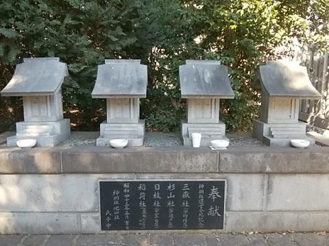 菅田神明社合祀4社