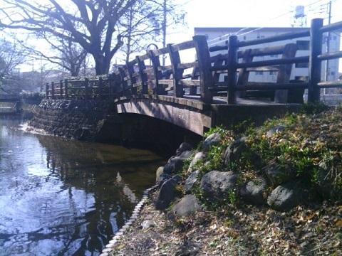 旧三沢川合流点