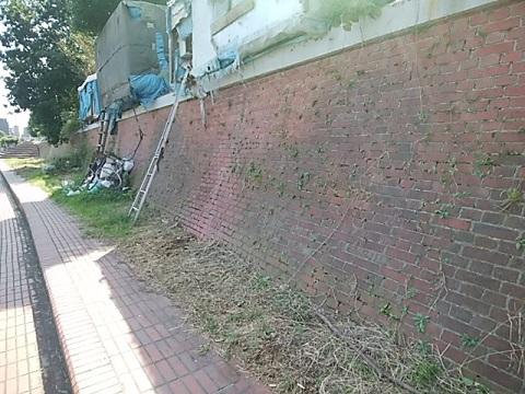 旧明治製糖の護岸壁