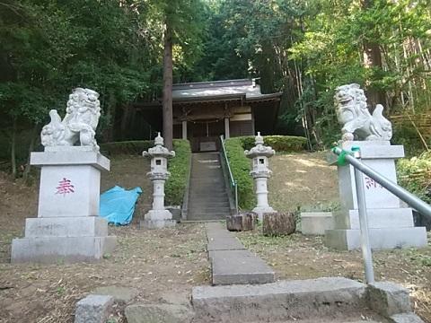 恩田子之辺神社狛犬
