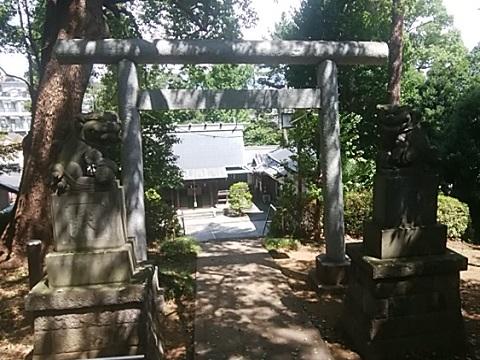 細山神明社狛犬・鳥居