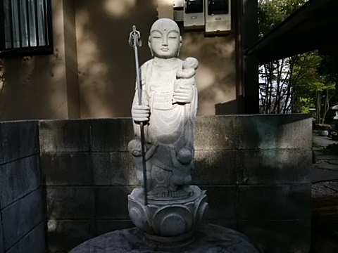 法華寺墓地入口子育地蔵