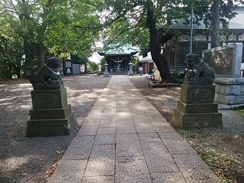 篠原八幡神社狛犬
