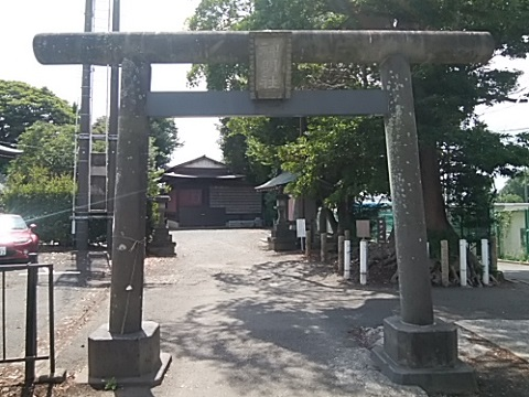 羽沢神明社鳥居