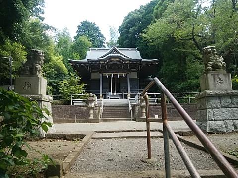西八朔杉山神社狛犬