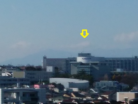 白楽の高台富士山