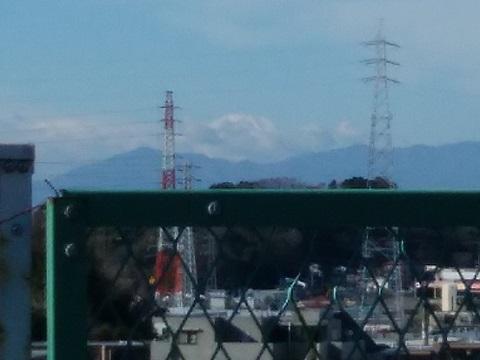 環状2号線梶山橋富士山