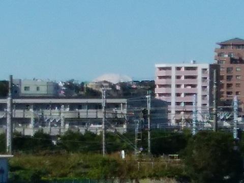 鶴見川橋富士山