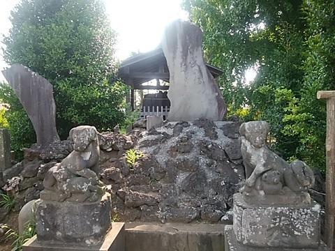 橘樹神社山岡鉄舟句碑