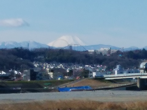 調布市上布田町土手富士山