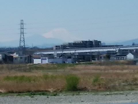 多摩川立川市民運動場富士山