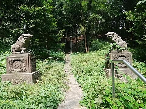 池辺八所神社狛犬
