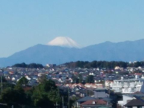 東鴨居中学校富士山