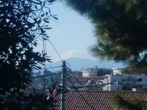 二反田交差点富士山