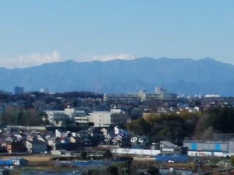 稲荷前古墳富士山