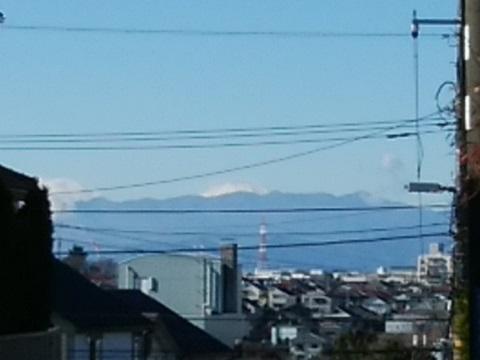 鷺沼公園富士山