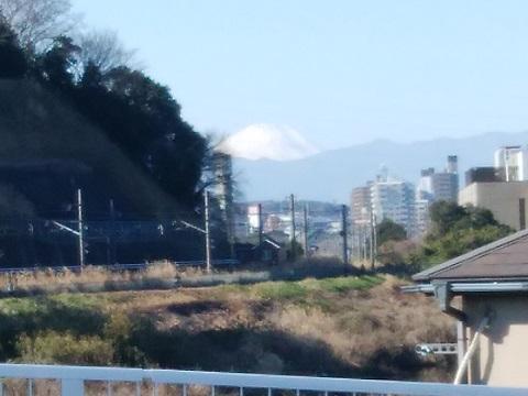 新川向大橋富士山