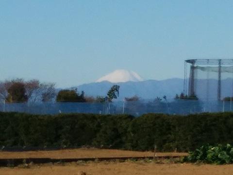 高田町の農道富士山