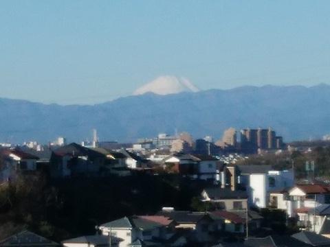 高田中学付近富士山
