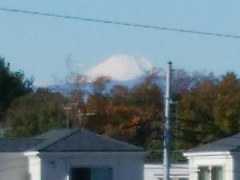 等々力土手富士山