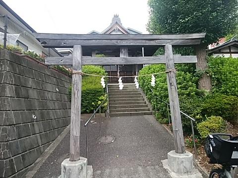 荏子田八幡社鳥居