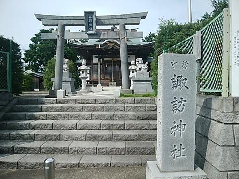 大場諏訪神社鳥居