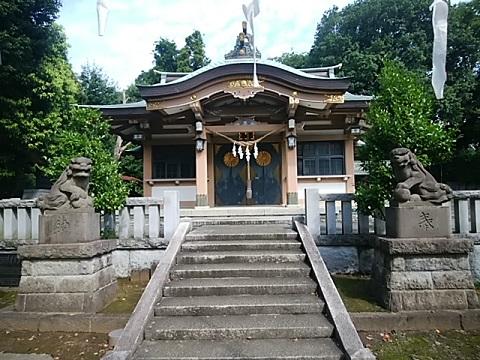 北新羽杉山神社狛犬