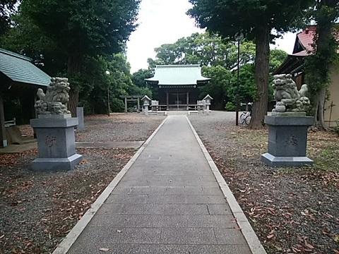 菅田神明社狛犬