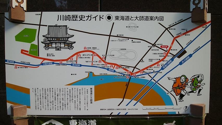 東海道と大師道ルートマップ