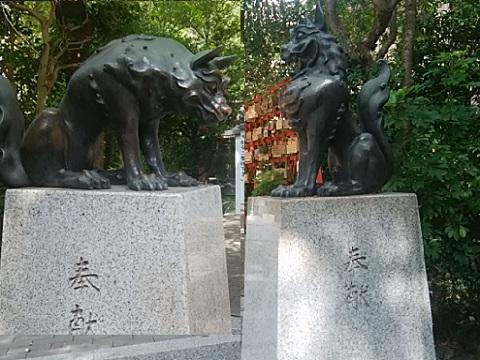 稲毛神社狛犬