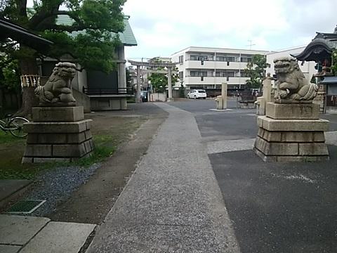 大島八幡神社狛犬