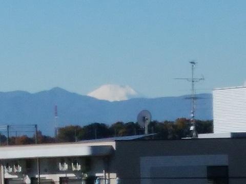 栗平駅付近富士山
