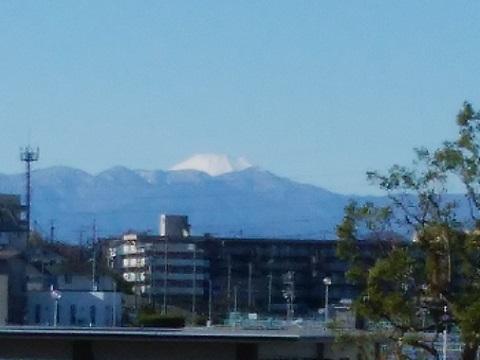潮見台浄水場富士山