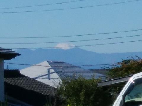 平3丁目の高台富士山