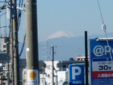 ふれあいの丘駅付近富士山
