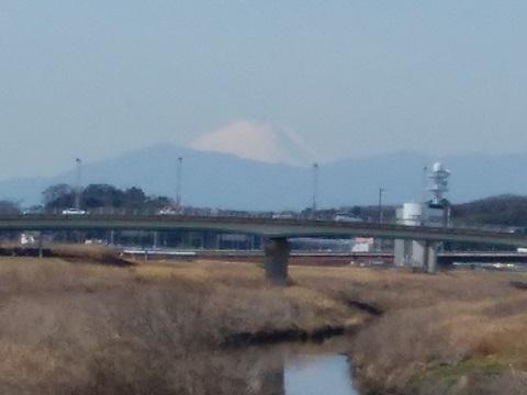 鶴見川新羽橋富士山