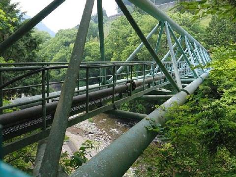 丹波川水管橋