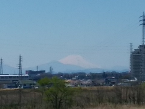 多摩川立川公園富士山